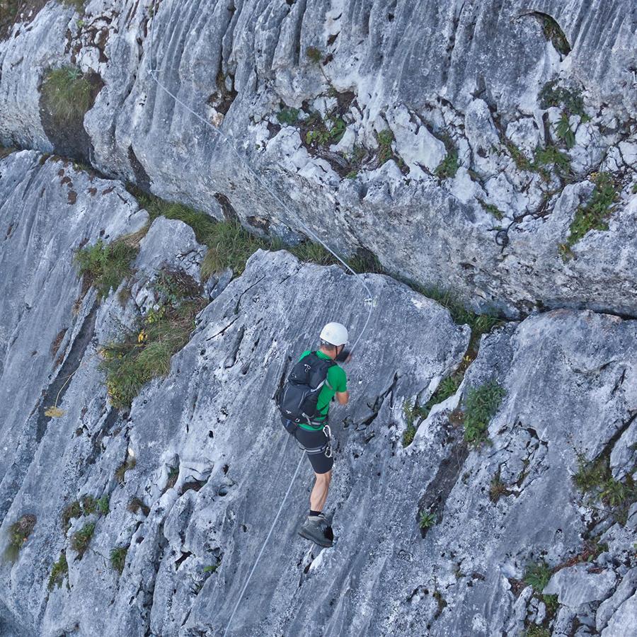 Klettersteig mit Schwierigkeitsgrad C und D