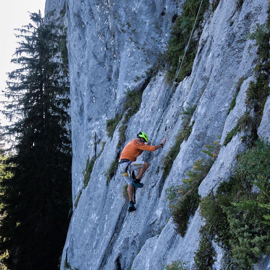 Klettersteig mit Gesamthöhe 114 Meter